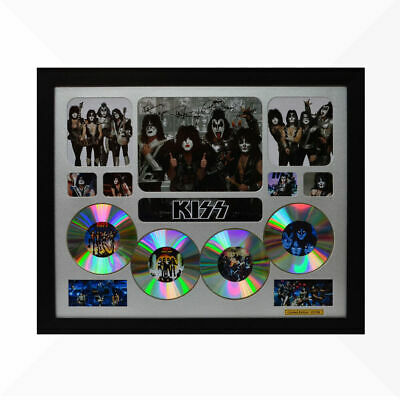 AU93.50 • Buy KISS Signed & Framed Memorabilia - 4CD - Silver - Limited Edition
