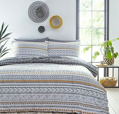 Jeff Banks King Size Bed Set Aztec Ports Of Call Duvet Cover & 2 Pillow Slips • 29.95£