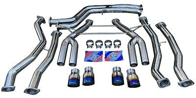 $1395.95 • Buy Full Exhaust System W/ Burnt Quad Tips TRACK USE For 2015+ M3 F80 M4 F82 F83 S55