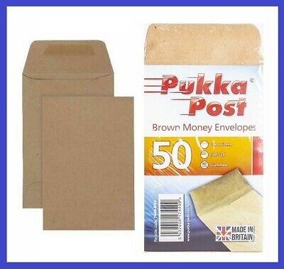 £2.35 • Buy 50 SMALL PLAIN BROWN ENVELOPES DINNER MONEY WAGES COINS SEED - SIZE 100 X 62mm