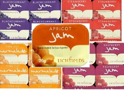 Lichfields Assorted Jam Portions Picnics Self Catering Travelling   • 6.99£
