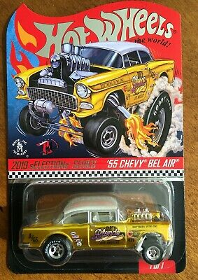 $48 • Buy 2019 Hot Wheels RLC SELECTIONS Dirty Blonde '55 Chevy Bel Air Gasser FREE SHIP