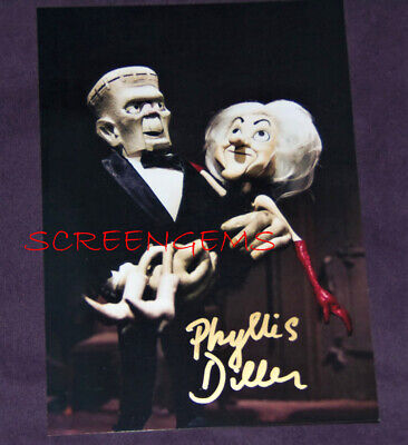 $95 • Buy Phyllis Diller Signed MAD MONSTER PARTY Photo Rankin Bass Frankenstein TV Rare