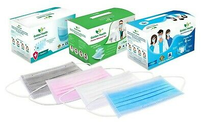 AU33.95 • Buy 4PLY 50 Disposable Face Mask Grey White Blue Protective FDA APPROVED  -AU STOCK