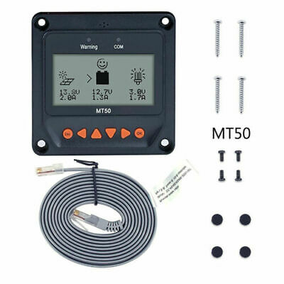 MT-50 Remote Meter LCD For Tracer Series MPPT Solar Charge Controller Regulator • 24.99£