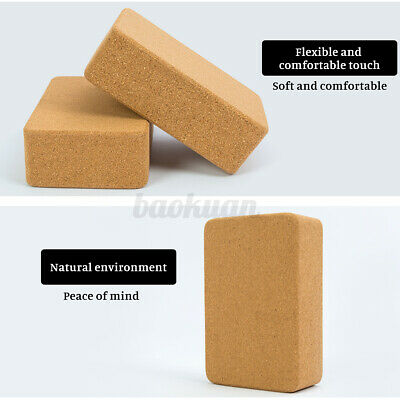 AU22.87 • Buy Cork Yoga Block 100% Natural Fitness Sport ECO Stretch Aid Gym Exercise Cushion