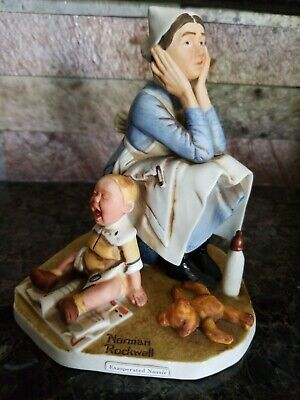 $ CDN24.25 • Buy Vintage Norman Rockwell  Exasperated Nannie   1980 Figurine By Dave Grossman