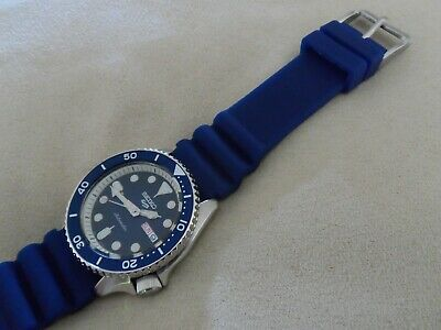 Blue Rubber Dive Watch Strap To Fit Seiko SKX SRPD SNZG And SNZF Watches 22 Mm • 13.95£