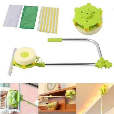 U Type Window Cleaner Telescopic Glass Cleaning Kit Squeegee DUST CLEAN BRUSH UK • 13.29£