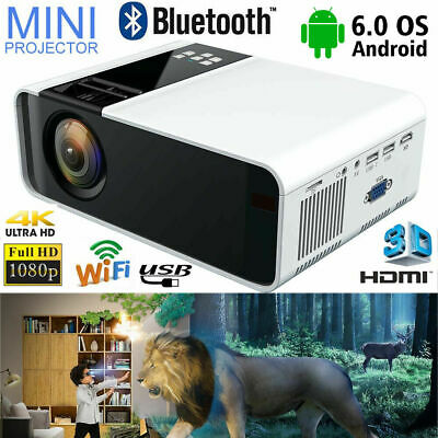 AU193.95 • Buy 10000 Lumens WiFi 4K 3D LED Projector Android  HD 1080P Home Theater Cinema HDMI