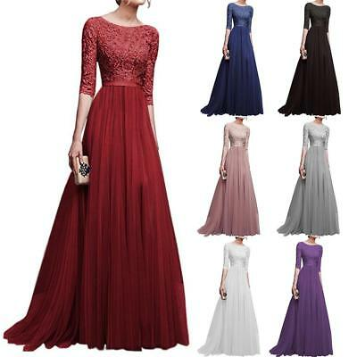 £19.25 • Buy Women Formal Wedding Bridesmaid Long Evening Party Prom Ball Gown Cocktail Dress