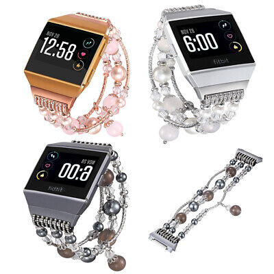 AU25.49 • Buy For Fitbit Ionic Smart Watch Womens Artificial Agate Replacement Bands Bracelet