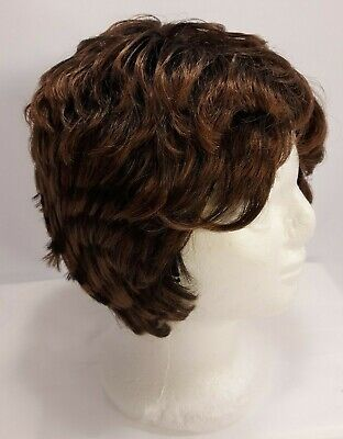 $14.99 • Buy Junee Fashion Feathered Wig 100% Kanekalon Short Reddish Brown
