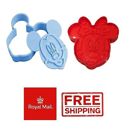 Mickey + Minnie Mouse Disney Biscuit Cookie Pastry Cutter Cake Baking Decoration • 5.99£