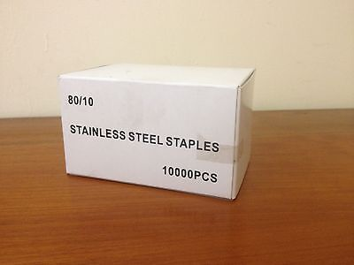 10,000 Stainless Steel Type 80 Series 10mm Staples • 14£