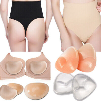 Women Tummy Control High Waist Body Shaper Thong Shorts Underwear Gel Bra Insert • 4.26£