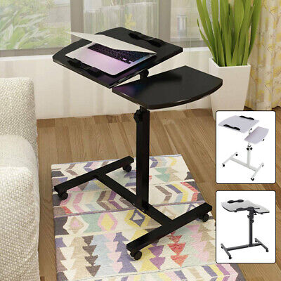 Foldable Computer Table Adjustable Laptop Desk Rotating Bed Table Lifted Stand • 30.95£