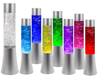 Colour Changing Glitter Lamp LED Light Night Stand Room Bed Side Table Gift Box • 15.19£