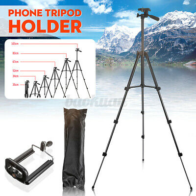 AU15.39 • Buy Tripod Phone Holder Universal Telescopic Camera Stand Mount For Samsung Iphone