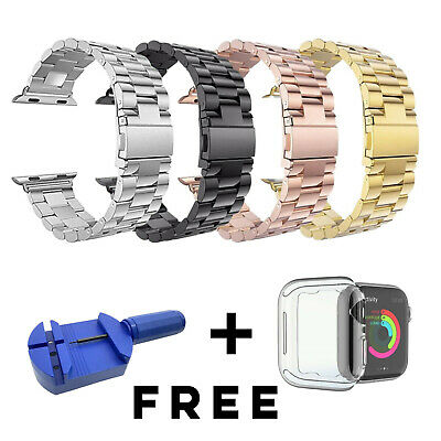 $ CDN17.29 • Buy Stainless Steel Strap For Apple Watch Series 6 SE 5 4 3 2 1 IWatch 38 40 42 44mm