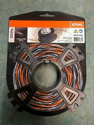 STIHL PRO SQUARE STRIMMER LINE 3.0mm X 22M PETROL STRIMMERS WIRE CORD HEAVY DUTY • 18.95£