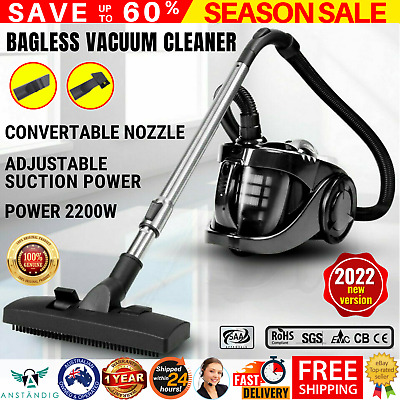 AU75.96 • Buy Bagless Cyclonic Cyclone Vaccum Cleaner Powerful 2200w HEPA Filter Vacuum Black