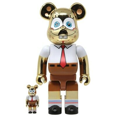 $299.99 • Buy Sponge Bob 400% 100% Gold Chrome Bearbrick Medicom Be@rbrick Very Rare Limited