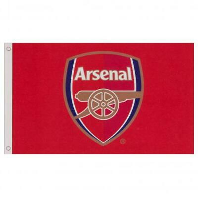 Arsenal Fc Crest Core Design 5'x3' Flag - Official Football Gift • 8.50£