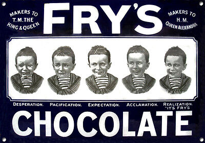 £12.49 • Buy FRY'S CHOCOLATE,Vintage Style, Metal Sign, Collectable, Enamel, No.609