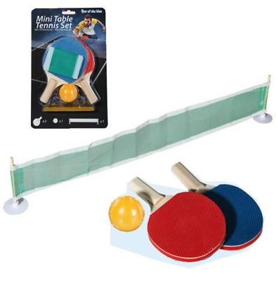 Mini Table Tennis Set Portable Net Rack Fun Games 2 Rackets 1 Ball Ping Pong Set • 5.25£