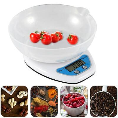 5kg Digital Kitchen Scales Lcd Electronic Cooking Food Measuring Bowl Weighing • 7.99£