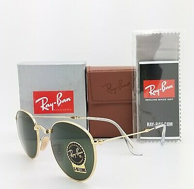 AU149.95 • Buy NEW Rayban Round Metal Folding Sunglasses RB3532 001 50 Classic G-15 AUTHENTIC