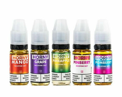 Horny Flava 10 X 10ml Nic Salt 10mg/20mg VG/PG 50/50 All Flavors Fast Dispatch • 22.99£