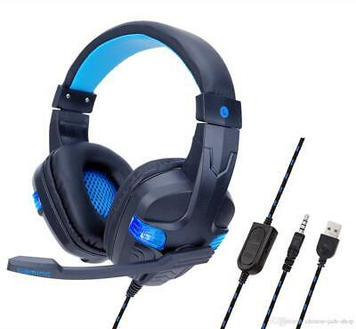 AU34.95 • Buy Gaming Headset With Mic For Ps4 Xbox Nintendo Switch PC Fornite Game Live 2020