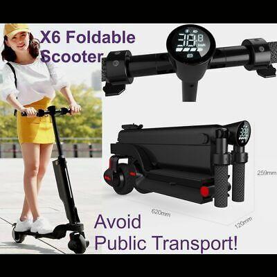 AU429 • Buy X6 Electric Scooter ADULT Commuter -Motorised Folding Tiny Size Portable RRP$750