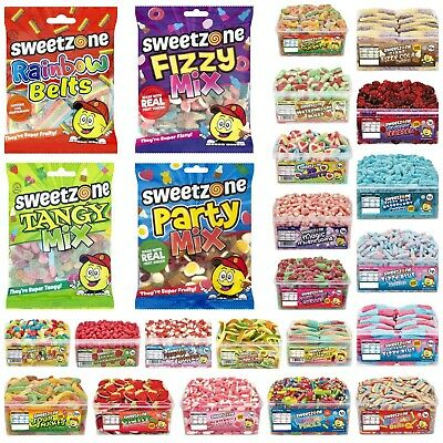 Sweetzone Sweets Tubs Bags Halal Retro Pick N Mix Candy Cart Treat Party Favour • 1.95£