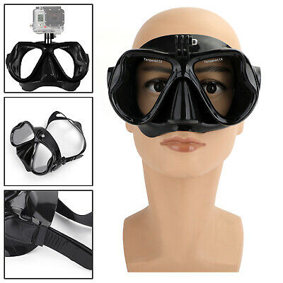 AU28.89 • Buy Underwater Diving Mask Scuba Snorkel Goggles Face Glasses Mount For GoPro Hero-B