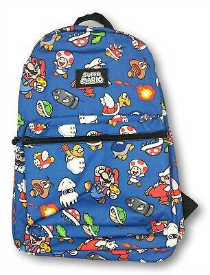Super Mario Backpack For Boys 16  Book Bag Great For School Or Travel • 15.53£