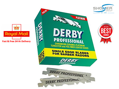 Derby Professional Premium Single Edge Razor Blades Barber Straight Throat Cut U • 3.99£
