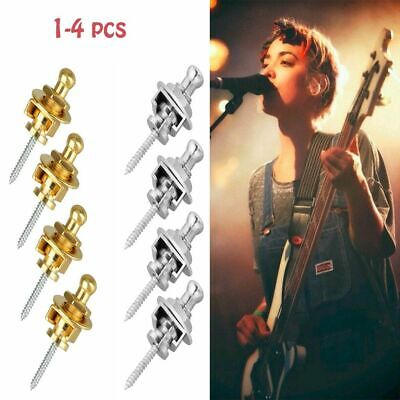 $ CDN6.89 • Buy 1-4pcs 2 Color Chrome Round Head Strap Locks Buttons For Guitar Bass Style Parts