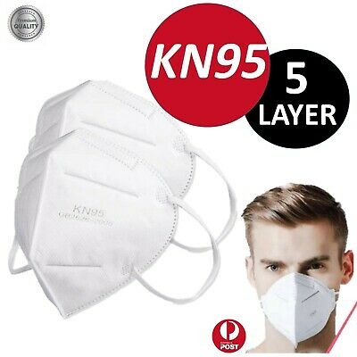 AU17.92 • Buy Upto 10 Reusable Mask Respirator  KN95 Face Masks 5 LAYER Filter Anti Dust AU