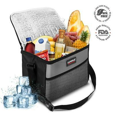 AU18.14 • Buy Waterproof Thermal Insulated Cooler Lunch Bag Box Carrier Work Case Adjustable