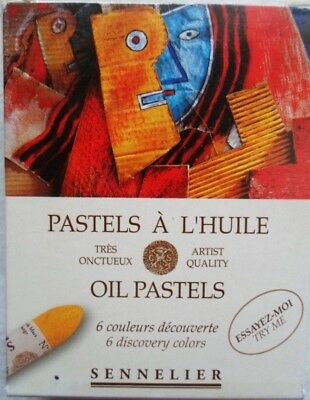 Sennelier Oil Pastel Oil Pastels 6 Various Colours • 13.11£