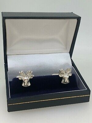 925 Silver Stag Head Cufflinks • 60£