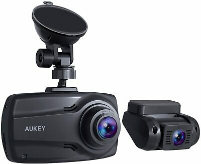 """AU180.12 • Buy AUKEY 1080P Dual Dash Cams With 2.7"""" Screen, Full HD Front And Rear Camera, 6-La"""