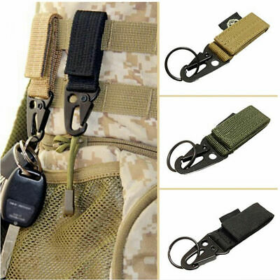 Nylon Key Hook Outdoor Camping Webbing Molle Buckle Hanging Belt Carabiner Clip • 1.61£