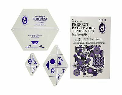 $22.75 • Buy Patchwork Templates Large Hexagons High Quality Hand Machine Piercers 11 Shapes