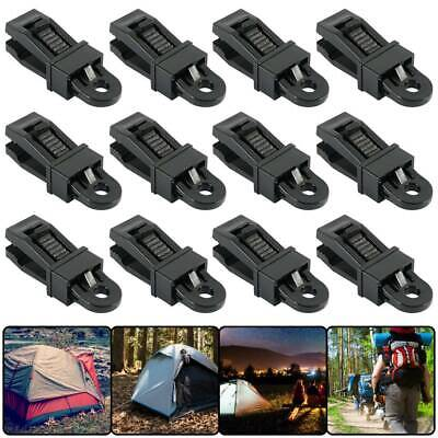 12x Reusable Tent Tarp Tarpaulin Clip Clamp Buckle Camping Tool Heavy Duty UK • 5.99£