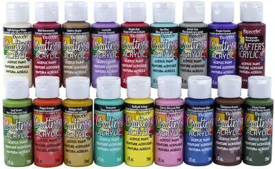 Decoart Crafters Acrylic Paint Various Colours 2fl.oz Bottle -  FREE P&P • 4.69£