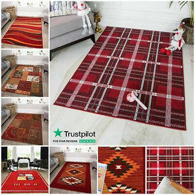Small Medium Large Rugs Soft Stylish Modern Rugs For Living Red Rugs Floor Mats  • 19.95£